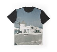 Old windmill at Oia, Santorini, Greece Graphic T-Shirt