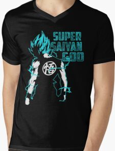 Super Saiyan God Mens V-Neck T-Shirt
