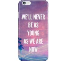 NEVER BE (pink/purple) 5SOS iPhone Case/Skin