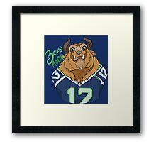 Seattle Seahawks Beast Mode 12th Man Fan Design Framed Print