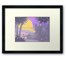 Purple Summer Framed Print