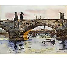 Charles Bridge in Prague Photographic Print
