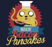 Makin Bacon Pancakes - Adventure Time Jake One Piece - Short Sleeve
