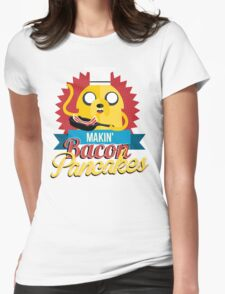 Makin Bacon Pancakes - Adventure Time Jake Womens Fitted T-Shirt