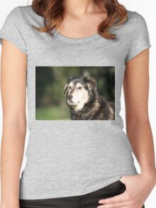Dog Portrait Women's Fitted Scoop T-Shirt