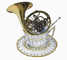 French Horn Teacup Lover One Piece - Long Sleeve