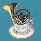 French Horn - Musical Cup of Tea by didielicious