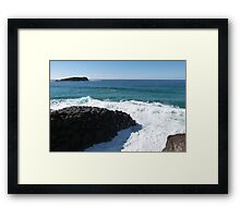 Giants Causway! Fingal Head, NSW North Coast & Hinterland. Framed Print