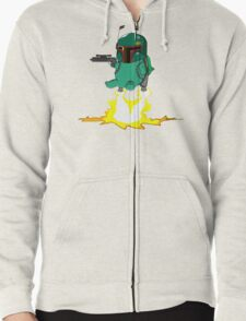 Bulba Fett (Star Wars and Pokemon Parody) Zipped Hoodie