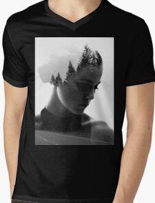 Branching Mens V-Neck T-Shirt