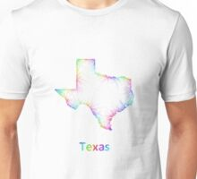 Rainbow Texas map Unisex T-Shirt