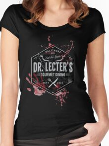 Dr Lecter's Gourmet Dining Women's Fitted Scoop T-Shirt