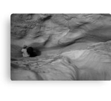 Exploring the Caves Canvas Print