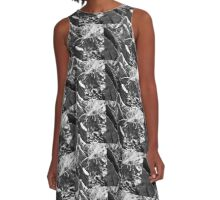 Abstract of a Pine Trunk A-Line Dress