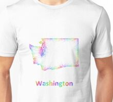 Rainbow Washington map Unisex T-Shirt