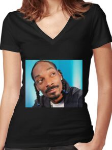 snoop dogg Women's Fitted V-Neck T-Shirt