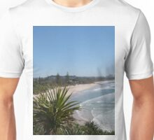 'Tweed Heads', Beach, & Pandanus. Fingal Head. NSW. North Coast. Unisex T-Shirt