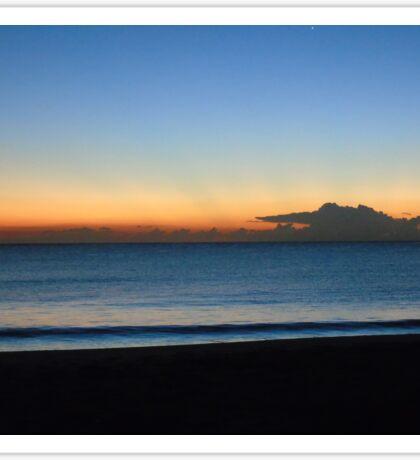 Stockton Beach at Dawn Sticker