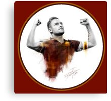 Francesco Totti - King of Rome Canvas Print