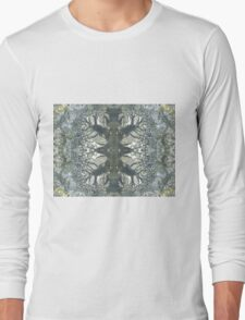 Silver Snowflake (Marcasite in Agate) Long Sleeve T-Shirt
