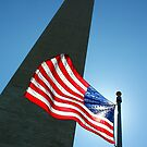 Washington Monument and Flag by Daniel Owens