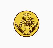 Demeter Harvest Wheat Grain Oval Retro Classic T-Shirt