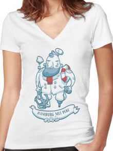 Swabian Captain Women's Fitted V-Neck T-Shirt