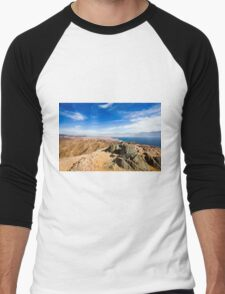 The colourful Eilat mountain range The gulf of Aqaba in the background  Men's Baseball ¾ T-Shirt