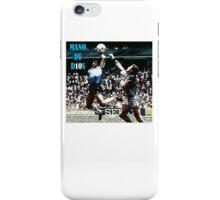 Maradona MANO DE D10S iPhone Case/Skin