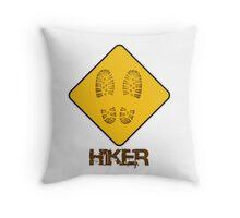 Hiker - Yield Throw Pillow