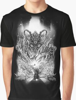 Final Fantasy - Ifrit Of Morgoth And Vivi The Grey Graphic T-Shirt