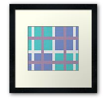 blue background of plaid pattern Framed Print