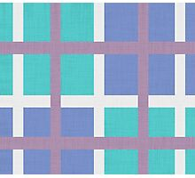 blue background of plaid pattern Photographic Print