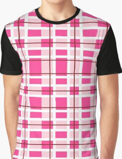 pink background of plaid pattern Graphic T-Shirt