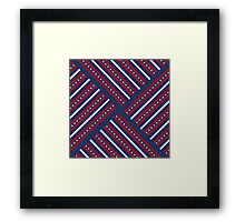 Fourth of July Americana Quilt Framed Print