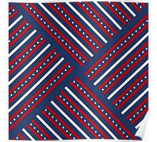 Fourth of July Americana Quilt Poster