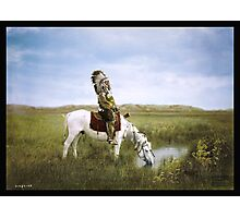 """""""An Oasis in the Badlands"""", Red Hawk, ca. 1905 Photographic Print"""