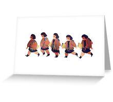 Little Girl Walk Cycle Greeting Card