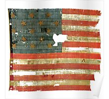 STAR SPANGLED BANNER 1814 STARS & STRIPES AMERICAN FLAG Poster