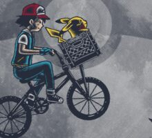 Bicycle scene - Pokemon E.T. Sticker