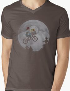 Bicycle scene - Pokemon E.T. Mens V-Neck T-Shirt