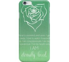 Heart Chakra Affirmation iPhone Case/Skin
