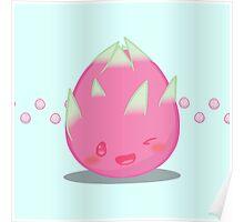 Cute Tropical Fruits - Dragon Fruit Poster