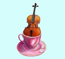Cello  - Musical Cup of Tea by didielicious
