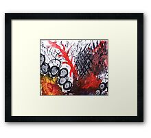abstract reds Framed Print