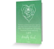 Heart Chakra Affirmation Greeting Card