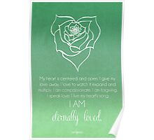 Heart Chakra Affirmation Poster