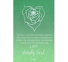Heart Chakra Affirmation Photographic Print