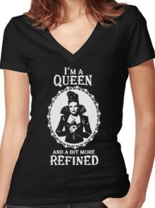 Regina Mills. Evil Queen OUAT. Lana Parrilla. Women's Fitted V-Neck T-Shirt