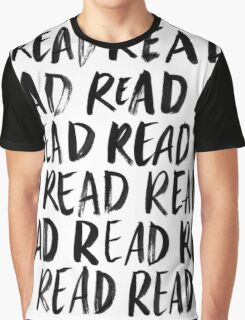 Read, Read, Read (White) Graphic T-Shirt